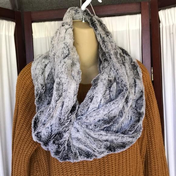 Faux fur scarf wrap